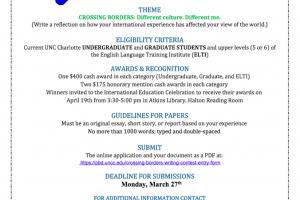 uncc dissertation deadline