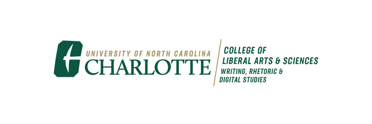 The Brand Logo for the Writing, Rhetoric and Digital Studies Department part of the College of Liberal Arts and Sciences at Charlotte